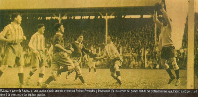 Victoire du Racing contre Independiente 7-4 en 1931