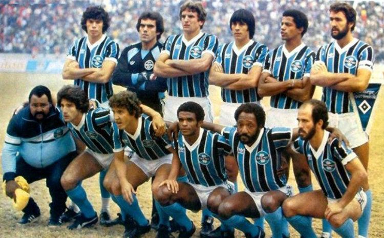 L'équipe de Grêmio, championne d'Amérique et du Monde en 1983