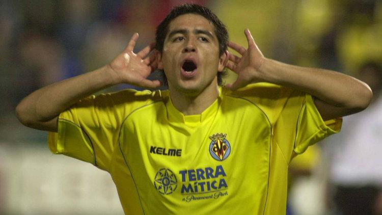 Juan Román Riquelme avec les couleurs de Villareal