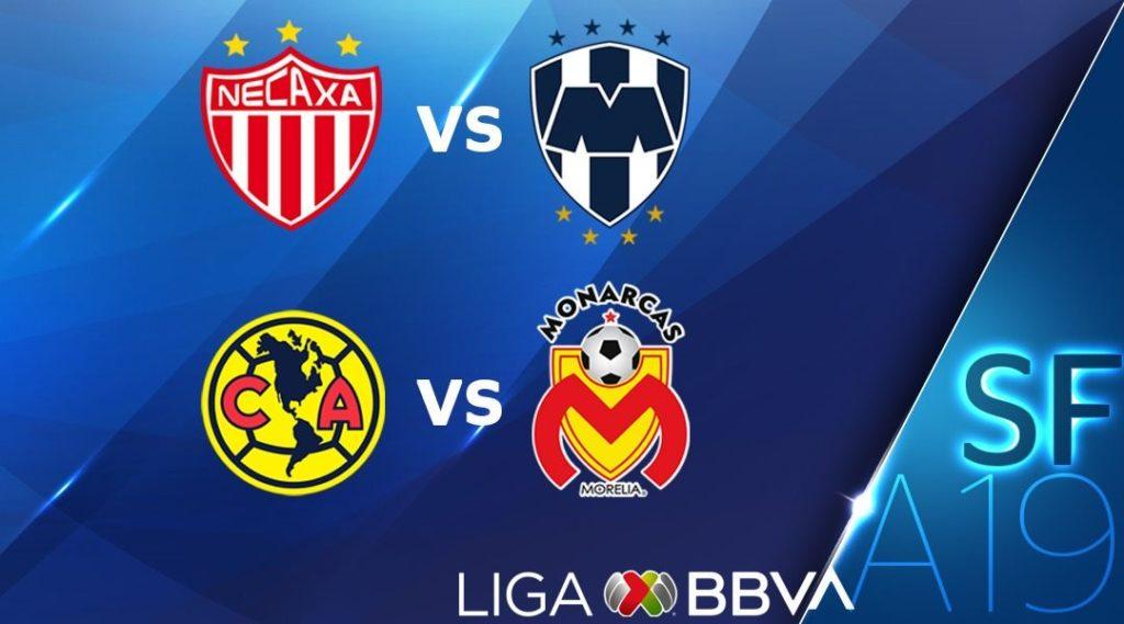Les rencontres des demi-finales du tournoi Apertura de Liga MX 2019