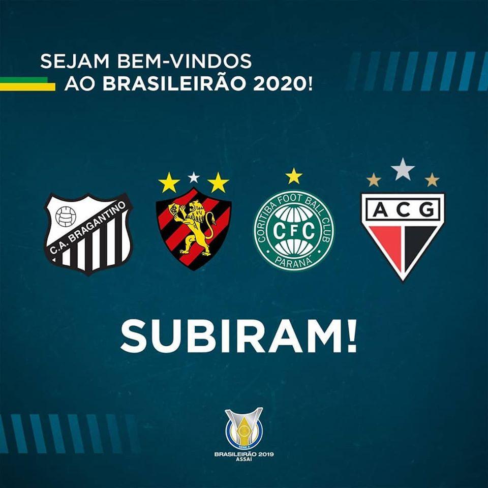 Bragantino, Sport, Coritiba et Atlético Goianiense ont assuré leur montée en Série A