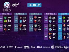 Calendrier de la journée 21 de Superliga 2020