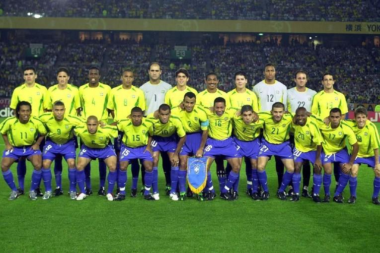 Les 23 joueurs qui ont composé le Brésil lors de la Coupe du Monde 2002