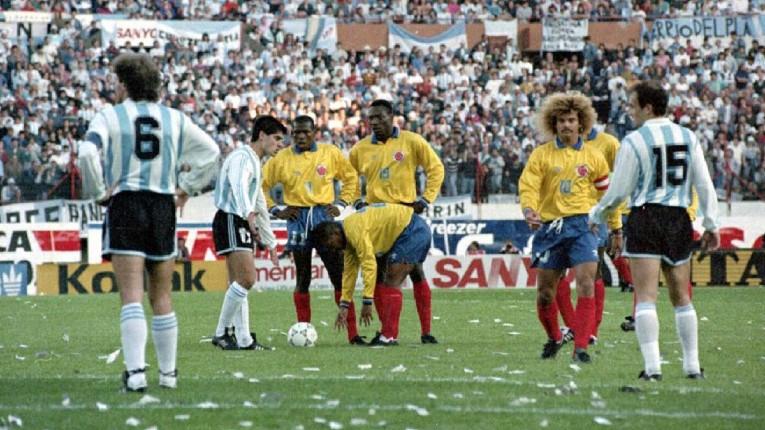 La victoire historique de la Colombie sur le score de 5-0 contre l'Argentine en 1993.