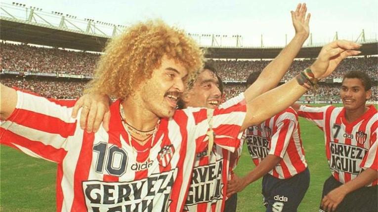 En 1995, Valderrama est champion de Colombie pour la deuxième fois avec l'Atlético Junior.