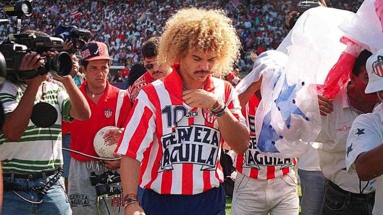 """Après seulement six mois à l'Independiente de Medellin, el """"Mono"""" rejoint Junior de Barranquilla avec qui il finira champion de Colombie."""