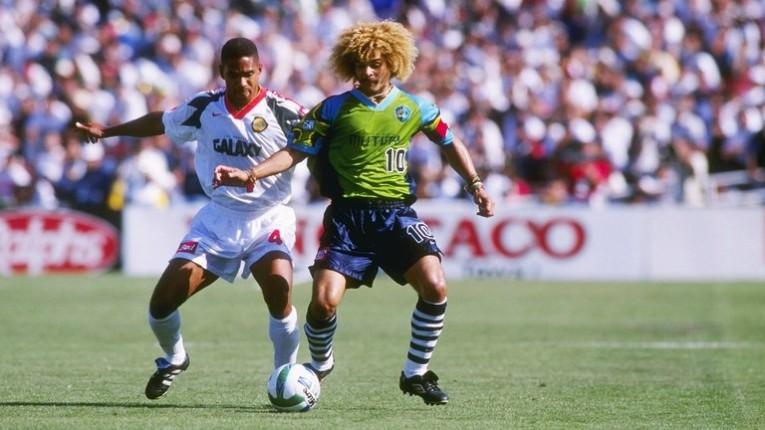 """En 1996, el """"Mono"""" décide de rejoindre la MLS. Il jouera deux ans au Tampa Bay Mutiny."""