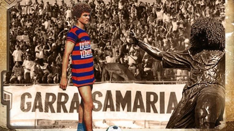 Les débuts professionnels de Valderrama, sous les couleurs de l'Unión Magadalena