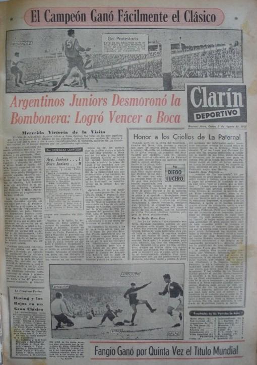 Pour Clarín, le 5 août 1957, Diego Lucero a écrit pour la première fois sur les Bichitos Colorados.