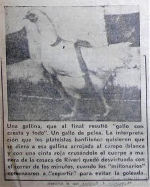 L'extrait de journal qui évoque la Gallina de River Plate.