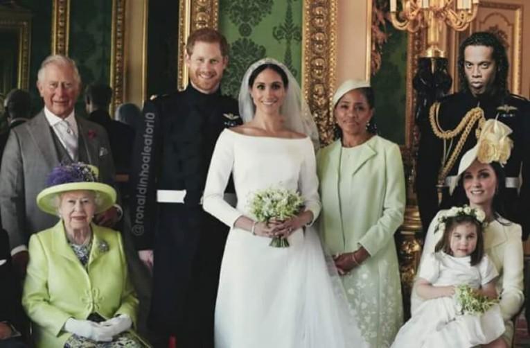 Montage de Ronaldinho avec la famille royale