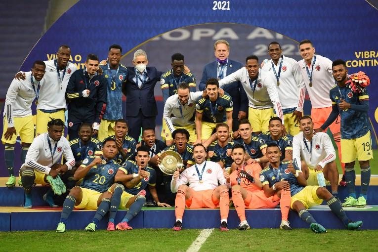La Colombie vainqueur de la petite finale de Copa América contre le Pérou.